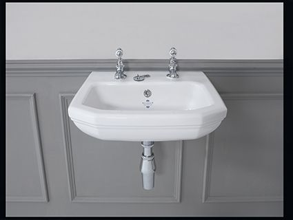 Silverdale's Empire cloakroom basin 450x380mm, available  1 or 2 tapholes.