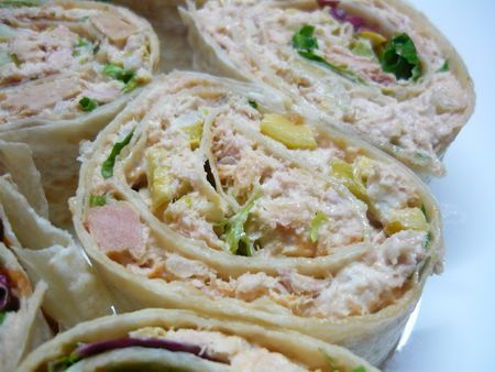 Wraps thon, mayonnaise et olives