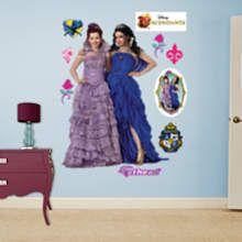 Mal and Evie Coronation Wall Decal   Shop Fathead® for Descendants Decor