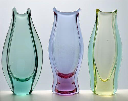 Buy * MOST ELEGANT CZECH ART GLASS VASE, DESIGNED BY PROF MILOSLAV KLINGER (1922-1999)for R2,500.00