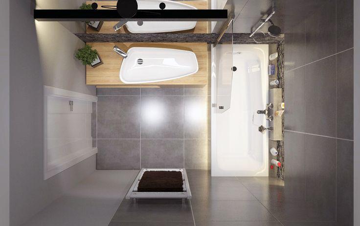 #bathroom #anthracite #stone #grey #wood on Behance