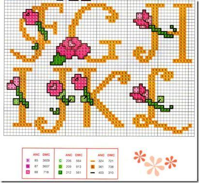 abc punto de cruz con flores (2)