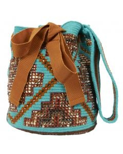 "Silvia Tcherassi bag inspired by our ""mochilas wayuu"""