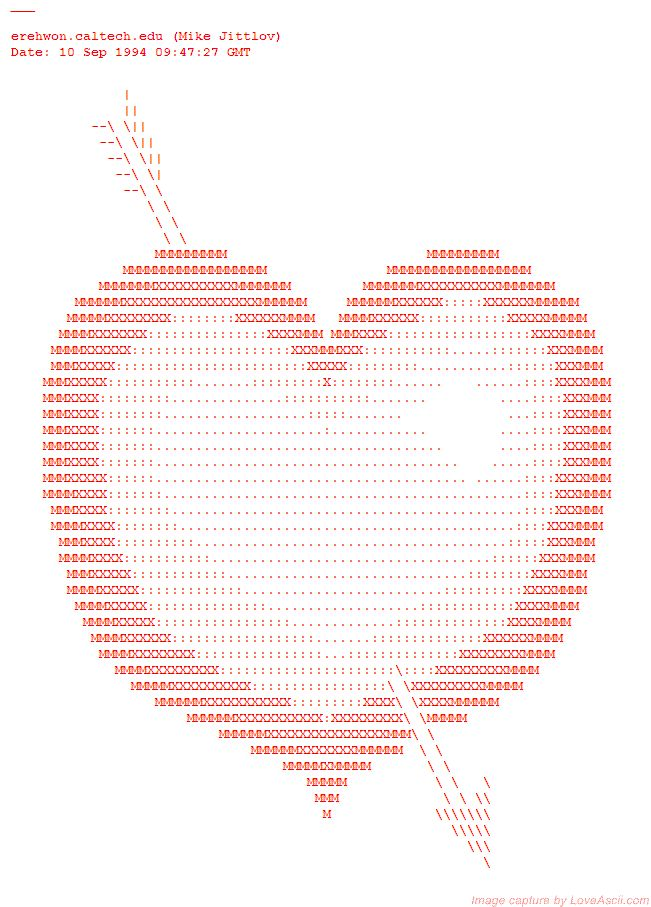 Cupid S Heart With Images Ascii Art