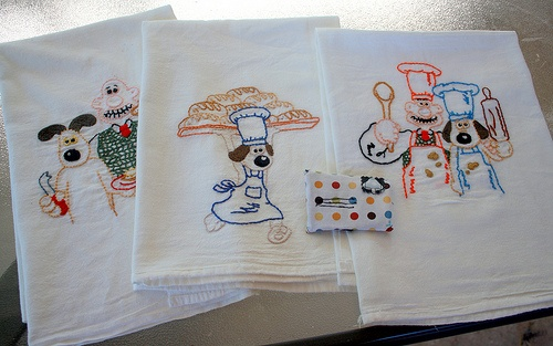 wallace and gromit towels. we need these for olive!!