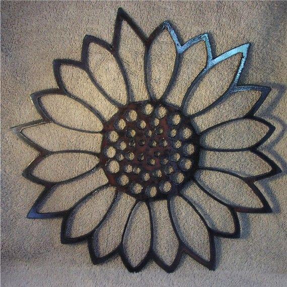 Giant Sunflower Metal Art by frolicnfriends on Etsy, $20.00