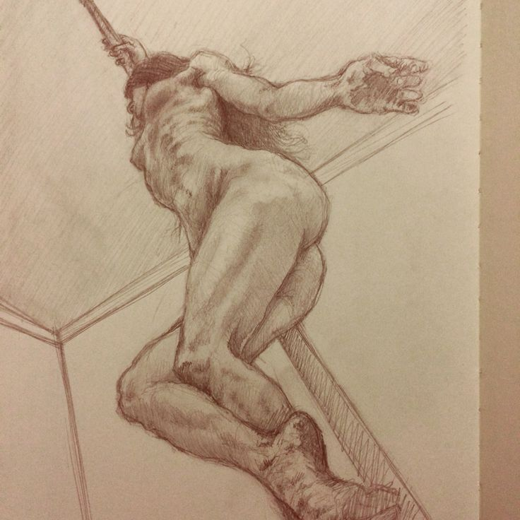 Graphite sketch drawing on moleskine sketchbook by Vincent Joe Dango.