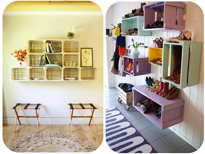 Huacales decoracion y reciclaje pinterest blog for Decoracion con madera