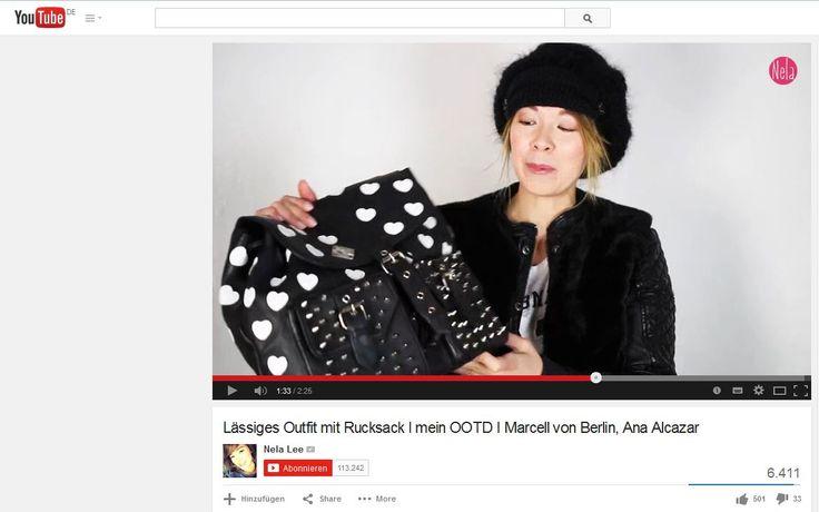 """Nela Lee - präsentiert in Ihrem Videoblog ein """"Lässiges Outfit mit Rucksack"""", der OSH von MAZE Fashion  We love it!!! Thank you Nela Lee It-s all about ♥♥♥♥♥♥♥  Watch it on YouTube: https://www.youtube.com/watch?v=F0ps00PAAR4  Shop now @ http://www.maze-shop.de/damen/accessoires/taschen/400/rucksack-osh?c=54  #perlepr #maze_fashion #backpack #leather #fashion #nelalee"""