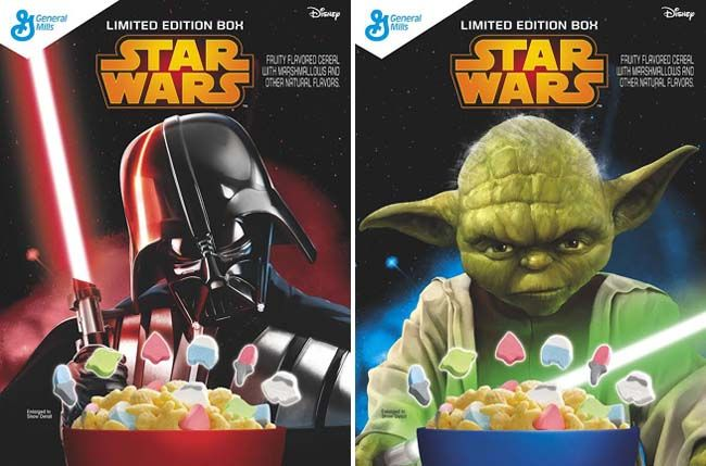 Similar to its existing Lucky Charms cereal, the new Star Wars cereal will feature marshmallow bits in six themed shapes, including a Storm Trooper, Yoda