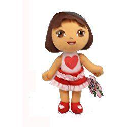 Small Size Dora the Explorer Love Dress Valentines Day Plush Doll
