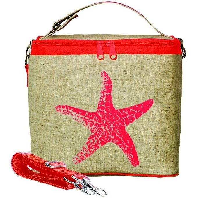 Small Cooler Bag Neon Orange Starfish - now only $32.00!  #UnusualGifts #UniqueGifts #allgiftythings #YouKnowYouWantIt #karmakiss