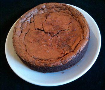 Tarta de chocolate negro y queso mascarpone
