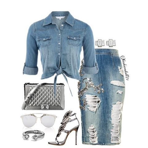 Instagram media by fashionkill21 - Denim is always fun DETAILS: Shirt #Pintrest…