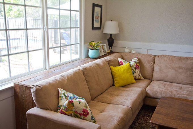 Las 25 mejores ideas sobre ventana detr s de la cama en - Mueble detras sofa ...