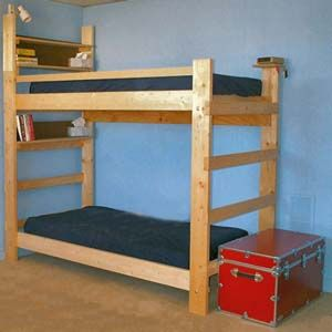 Heavy Duty Solid Wood Bunk Bed 1000 Lbs Wt. Capacity | Many customization options, and strong enough for big kids/teens to sleep on top bunk.