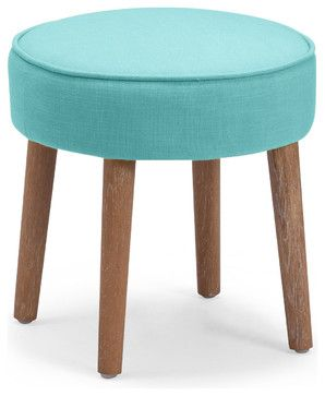 Britton Stool, Aqua - midcentury - Footstools And Ottomans - Zuo Modern Contemporary