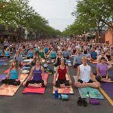 Om Street Yoga – One of my favorite summer events! West Hartford Yoga, West Hartford, CT,