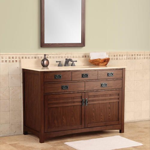Cornell 48 mission style combo at menards bathroom - Menards bathroom vanities 48 inches ...