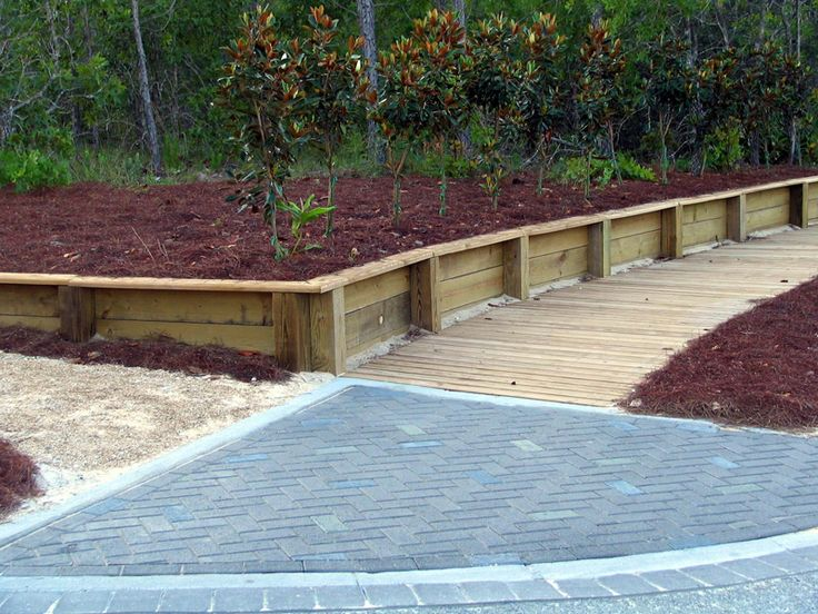 how to build a timber retaining wall on a slope