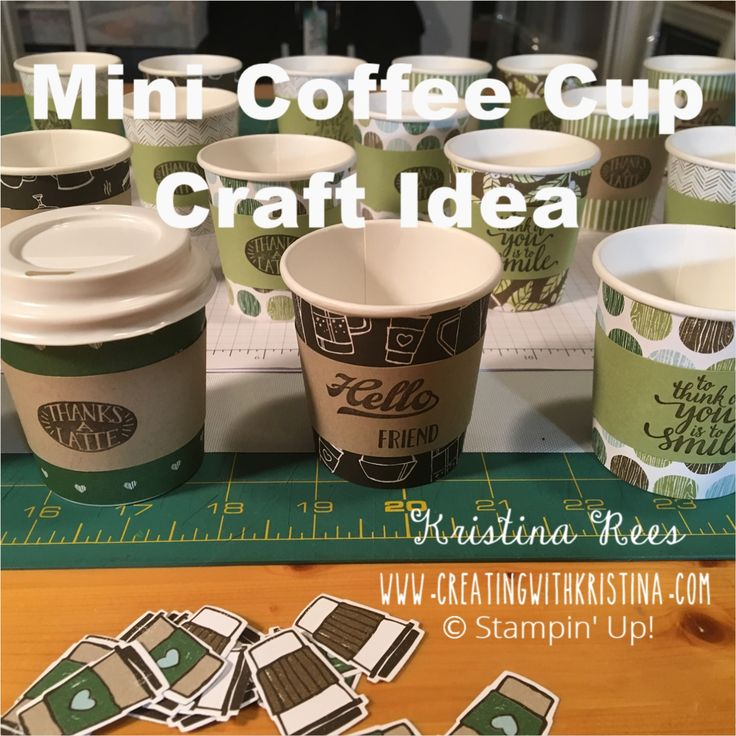 Mini Coffee Cup Craft Fair Idea Creating With Kristina