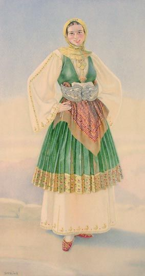 #26 - Peasant Woman's Dress (Thessaly, Trikkeri)