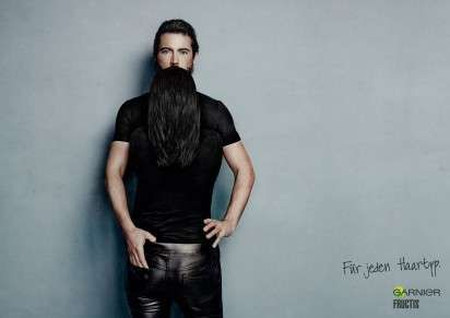 This Shampoo Ad Flips the Script and Puts Long Hair on Men's Chins #movember trendhunter.com
