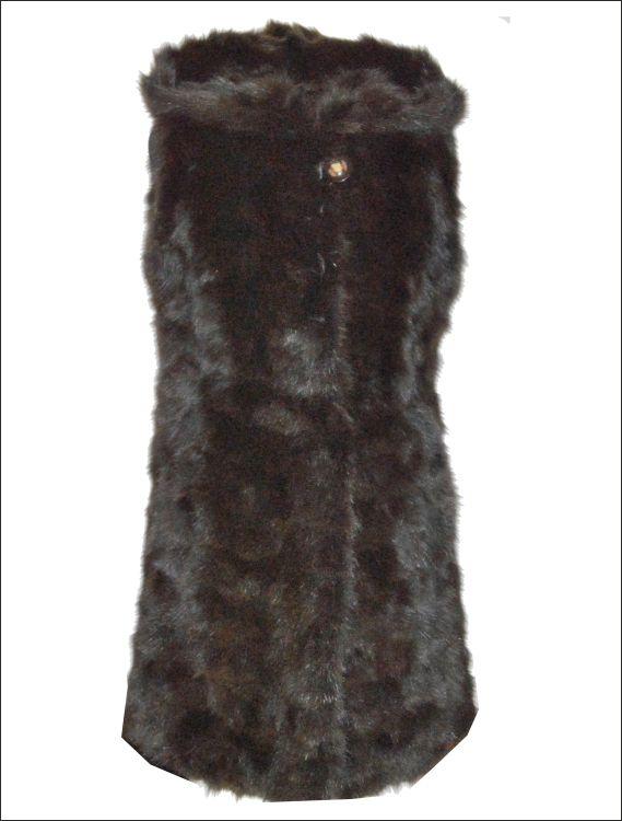 Γυναικείο γούνινο γιλέκο μακρύ με κουκούλα Γούνα: dark brown zibelline Τιμή: 780€