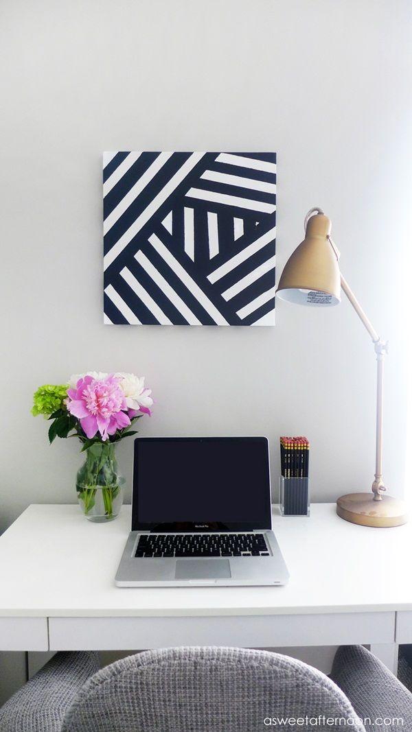 40 Easy Diy Wall Painting Ideas For Complete Luxurious Feel Diy Wall Painting Diy Dorm Decor Modern Diy