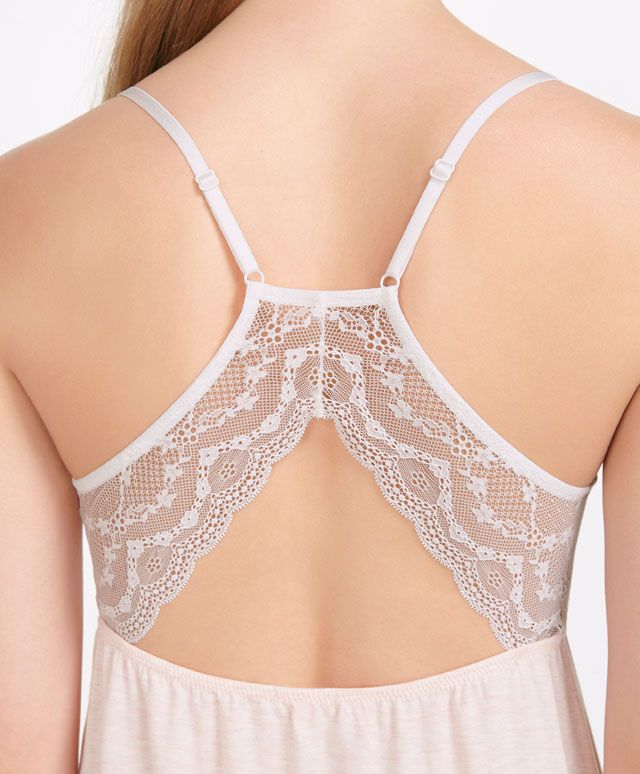 Lace detail nightdress - OYSHO