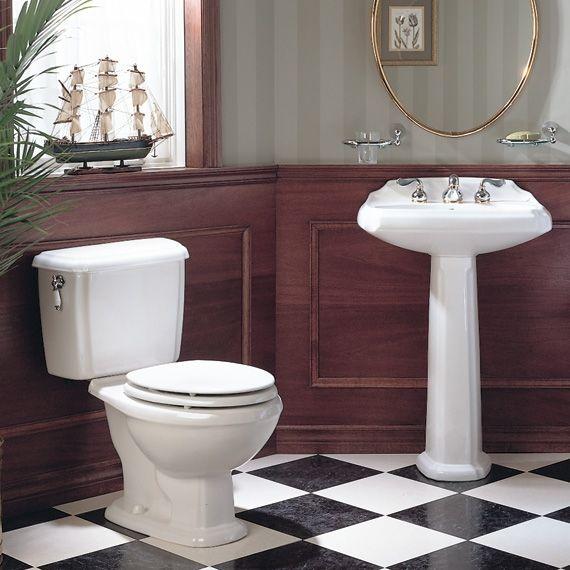 Vintage American Standard Pedestal Sinks   American Standard 0224.040.020  Antiquity Pedestal Sink With 4
