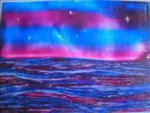 stormy seas one of my encaustic art paintings