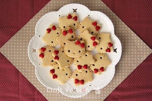 Hello Kitty Cookie Recipe #food #recipe #Hello_Kitty #cookie