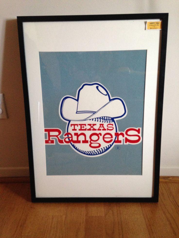 Vintage Felt Texas Rangers Poster by ThingsIBuyForYou on Etsy