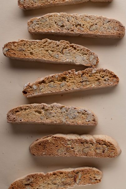 Gluten-free, dairy-free orange-pecan biscotti from @Jeanne Sauvage