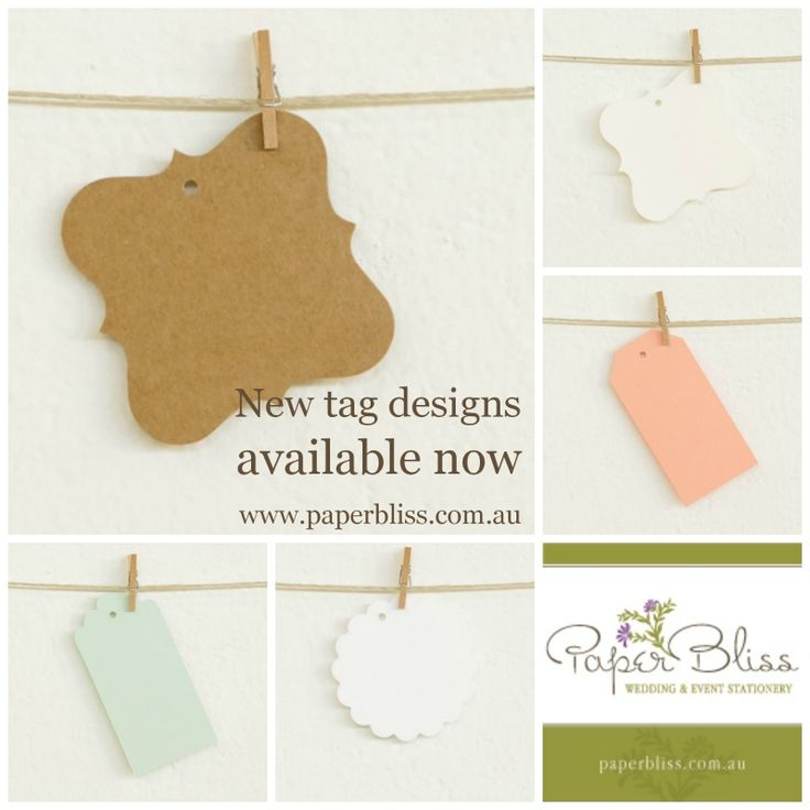 New tag designs by Alex Mae are now available at Paper Bliss.