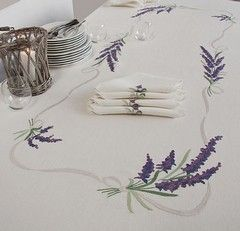 Lavander Tablecloth in pure linen