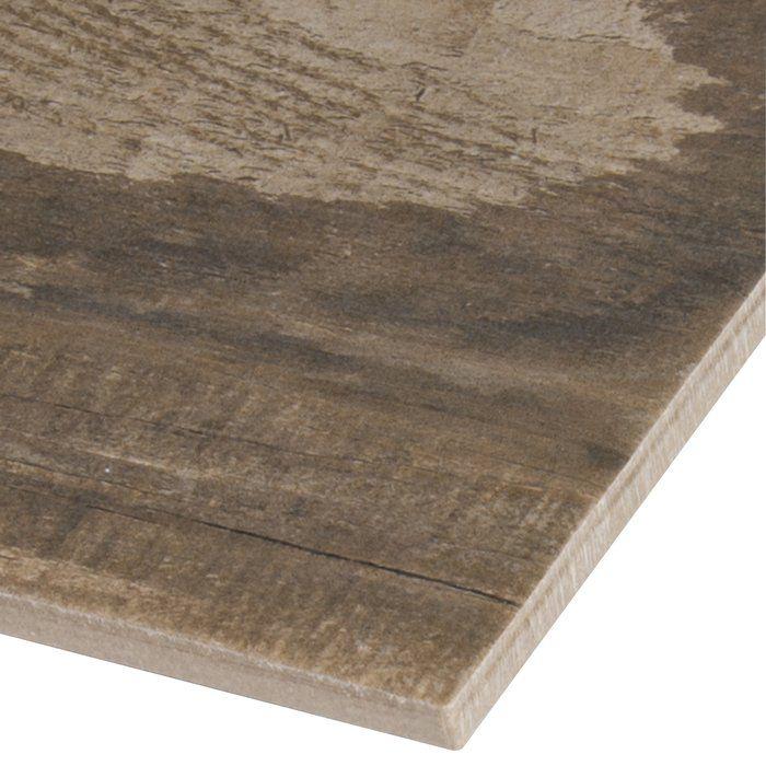 Salvage 6 X 40 Porcelain Wood Tile In Glazed Brown Wood Look