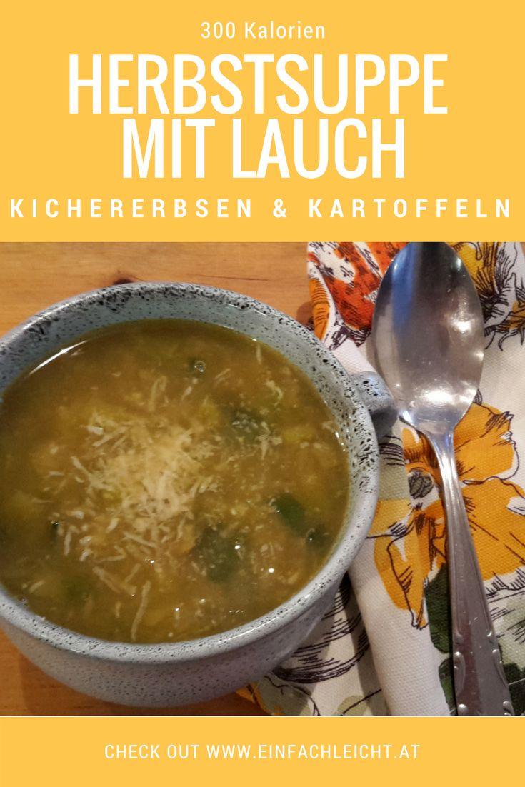 Eine Suppe, die an kalten Herbst- und Wintertagen schön von innen wärmt und so richtig satt macht. Mit Lauch, Kartoffeln und Kichererbsen.