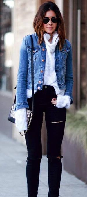 ab32f5b525 40+ cute denim jacket outfit ideas 2018 for ladies  denim  jeans  jackets   fashionoutfits  clothing  Casual  outfits  fashion  ideas  women  style ...