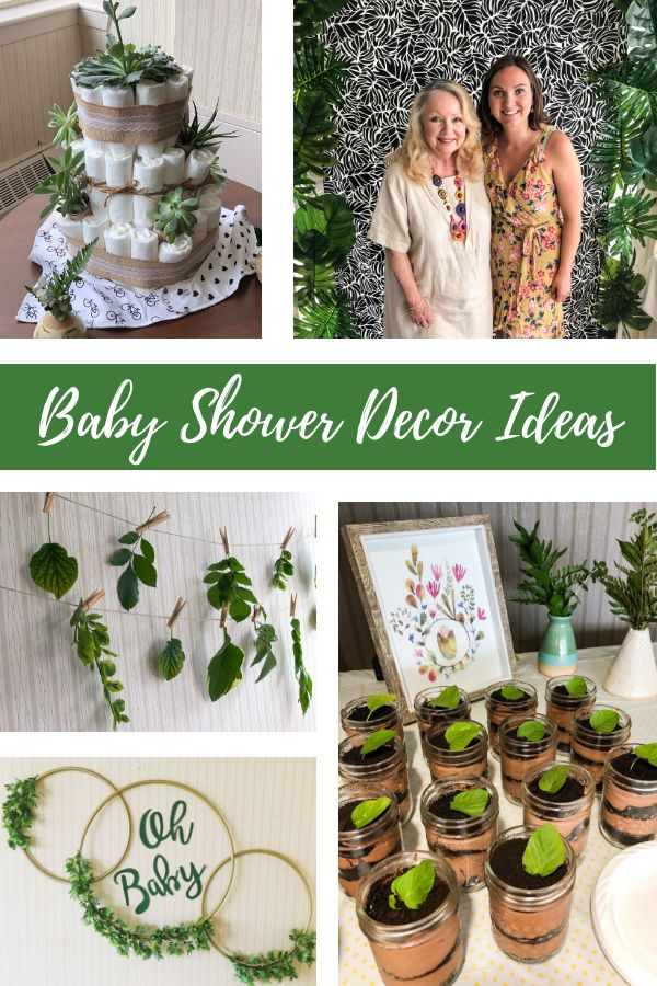 "This ""little sprout"" baby shower theme was so much fun to put together. We used …"