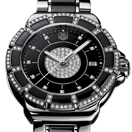 Tag Heuer Formual 1 Lady Steel & Ceramic Watch with Diamonds!  Very Hot!