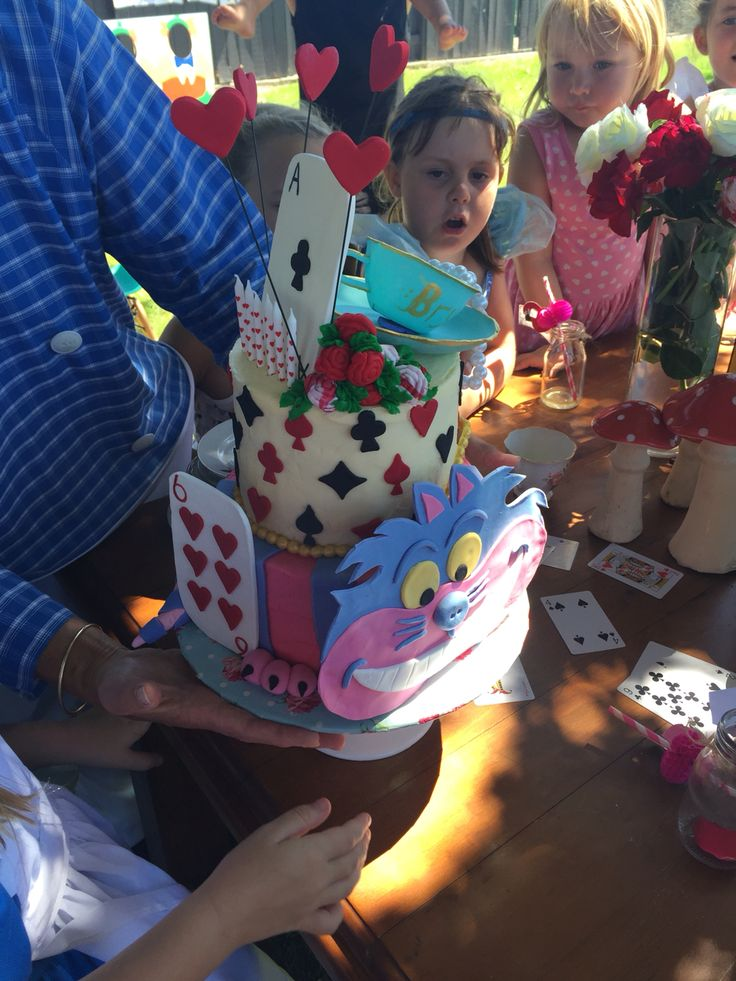 Brylees 6th birthday cake 'Alice in wonderland' theme