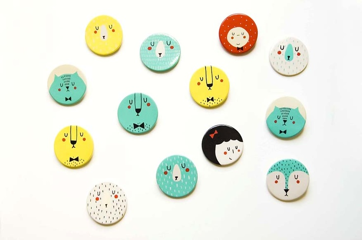 porcelain brooches by Studio Meez