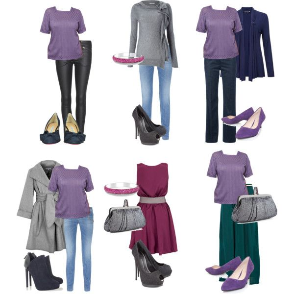 """""""cold summer looks"""" by sabira-amira on Polyvore - nice use of color. Great Capsule Wardrobe ideas."""