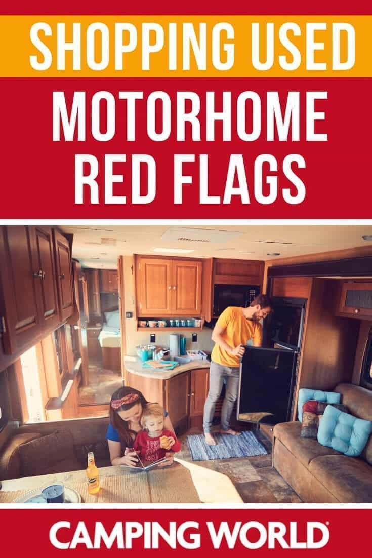 Shopping Used Motorhome Red Flags In 2020 Motorhome Buying An Rv Camping Decor