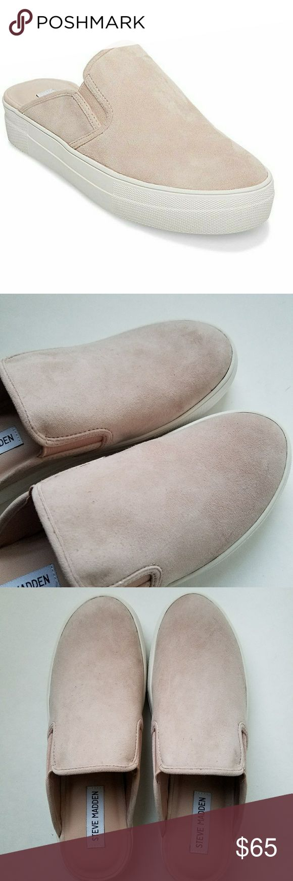 Steve MADDEN Glenda LIGHT PINK  - NEW  - IN ORIGINAL BOX  - KID SUEDE  - IMPORTED  - RUBBER SOLE  - SLIP ON SNEAKER MULE - SUPER COMFORTABLE Steve Madden Shoes Mules & Clogs