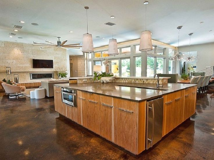 Kitchen Island Floor Plan best 25+ large kitchen island designs ideas on pinterest | large