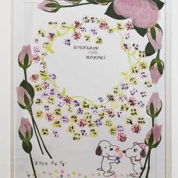 """43 Likes, 7 Comments - Manami (@manami_7_2) on Instagram: """"式場から昨日荷物が届きました♡ 私たちの式場では人前式をした時に使った証明書と12本のバラを使ってこーんなの作ってくれるんです♡…"""""""