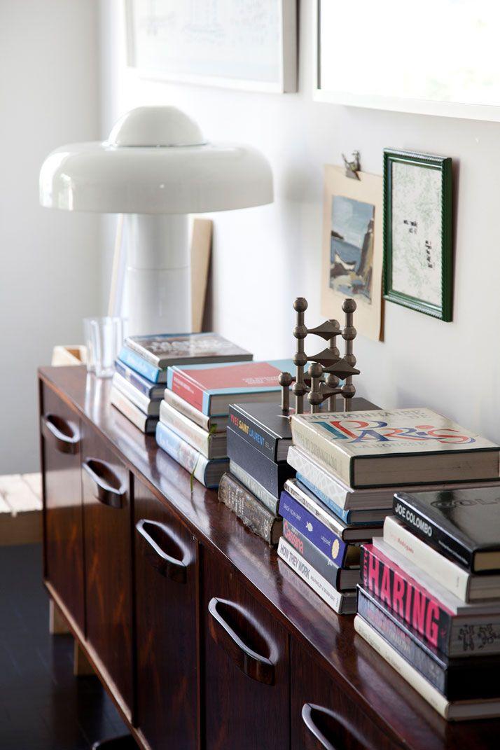 Stacks of books...stylish decor?